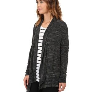 Michael Stars Heather Gray Open Front Cardigan OS